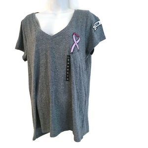 Torrid Knit Shirt Gray Team Pink NWOT Sz. 00